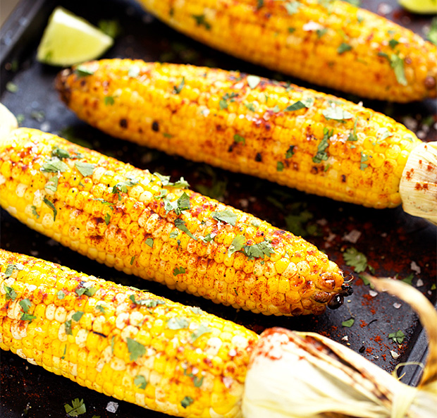Grilled Cilantro, Lime & Paprika Corn on the Cob at werd.com