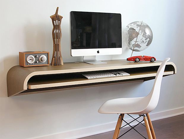 Minimal wall desk by orange 22 - Orange floating desk ...
