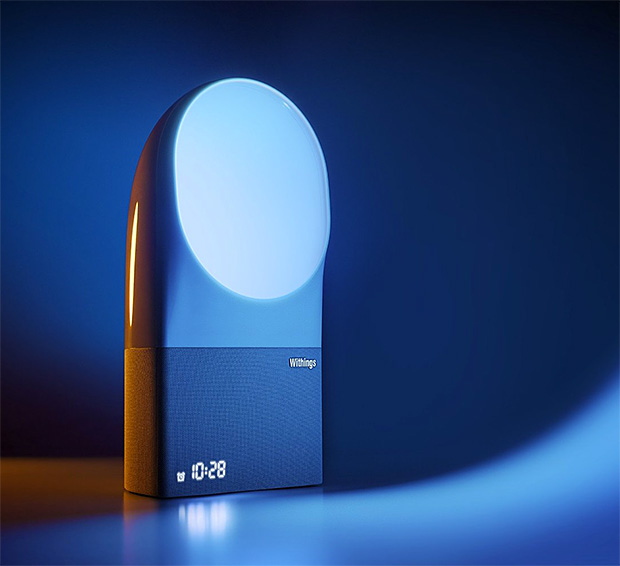 Withings Aura Connected Alarm Clock with Wake-Up Light & Sound System at werd.com
