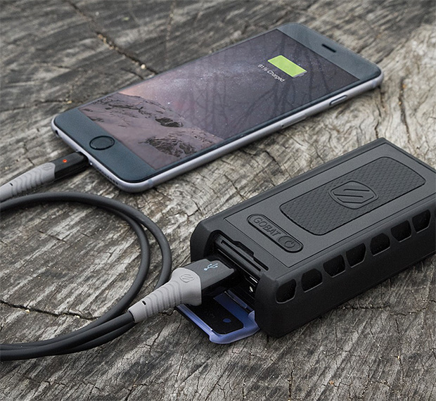 Scosche goBAT 6000 Rugged Portable Backup Battery at werd.com