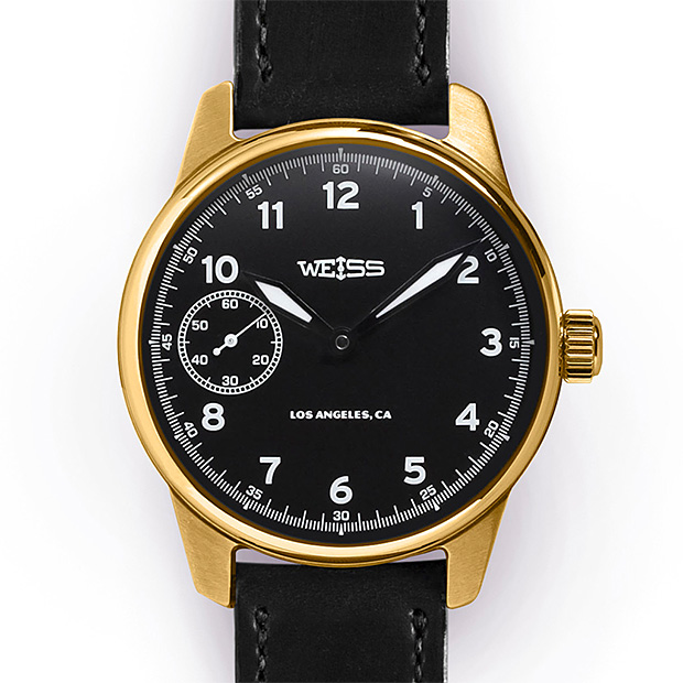 Weiss Executive Issue 79 Field Watch Black Dial 18k at werd.com