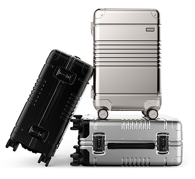 Arlo Skye Aluminum Luggage at werd.com