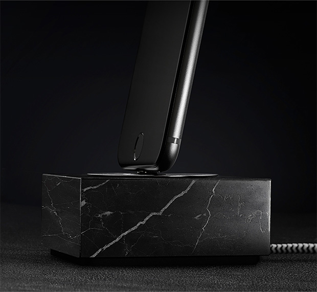 Native Union DOCK+ Lightning Marble Edition at werd.com
