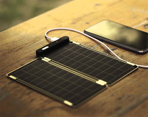 Solar Paper is a Lightweight and Expandable Solar Charger at werd.com