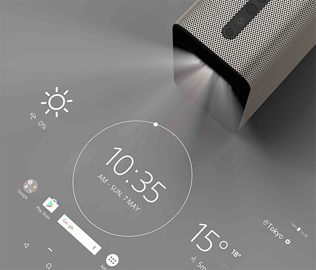 Watch, Play & Interact with The Xperia Touch Home Projector at werd.com