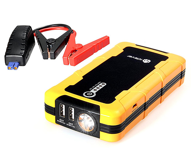 iClever Portable Car Jump Starter & External Power Bank at werd.com