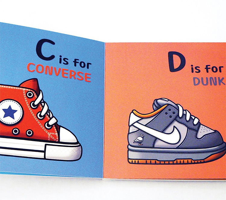 ABC's for the Little G's Blends Sneaker Culture & The Alphabet at werd.com