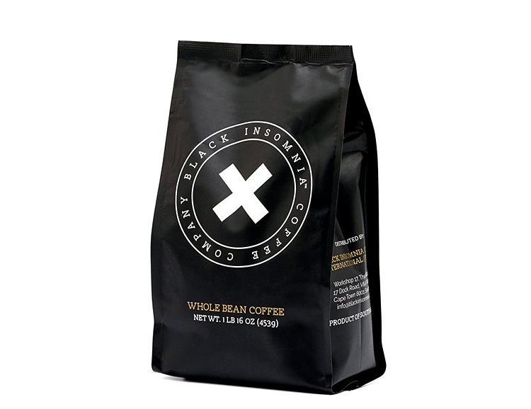 Stay Up with the Black Insomnia Coffee Company at werd.com