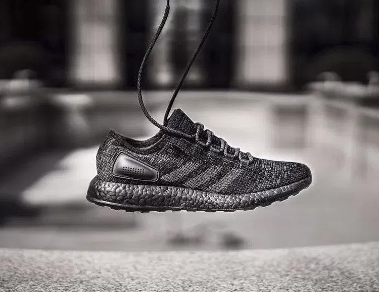 All Black Everything: Adidas Drops the Pure Boost LTD Triple Black at werd.com
