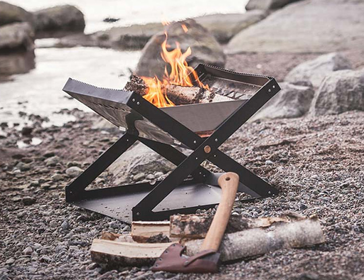 This Portable Firepit Brings The Heat Without Breaking The