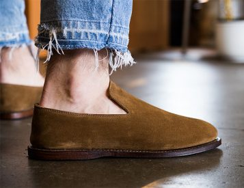 Slip On Into Suede with the Viberg Slipper