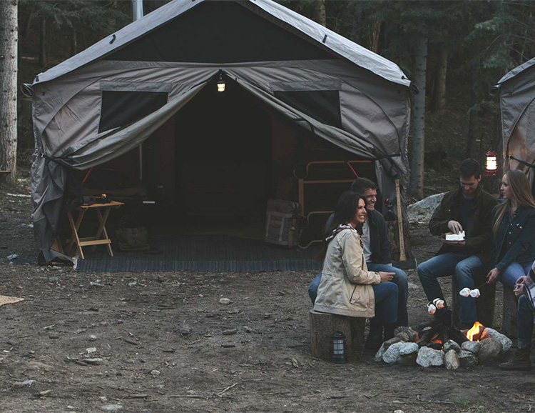 At Home in the Wild: The Barebones Lodge Tent at werd.com