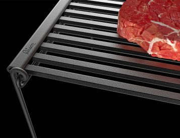 The Lightweight, Portable Bison Rolling BBQ Grill is Good To Go