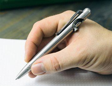 Just Write: The Damascus Slider Pen