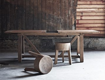 A Solid Hardwood Stool for Indoor & Outdoor Use