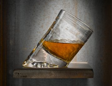 It's Not Whiskey Vision, This Glass Is Actually Slanted