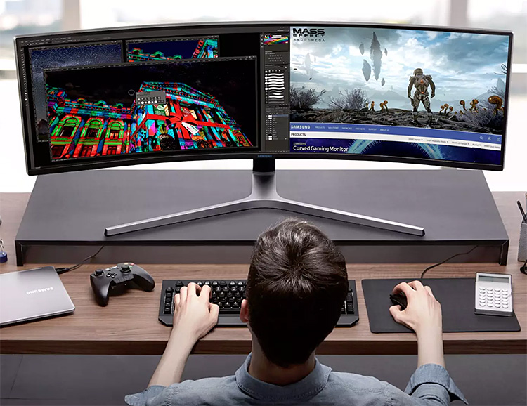 Samsung Introduces Super-Size CHG90 Gaming Monitor at werd.com