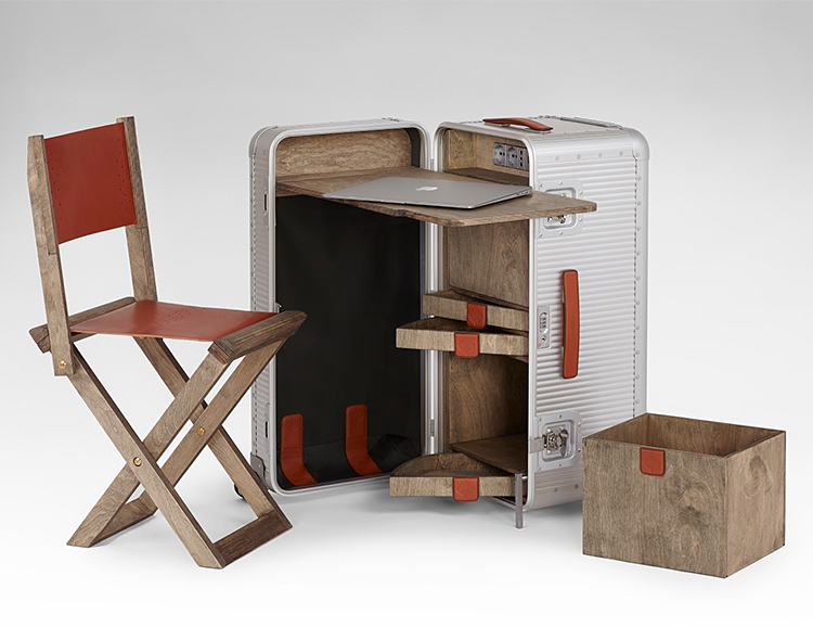 The Bank Workstation Is A Portable Office On Wheels Werd Com