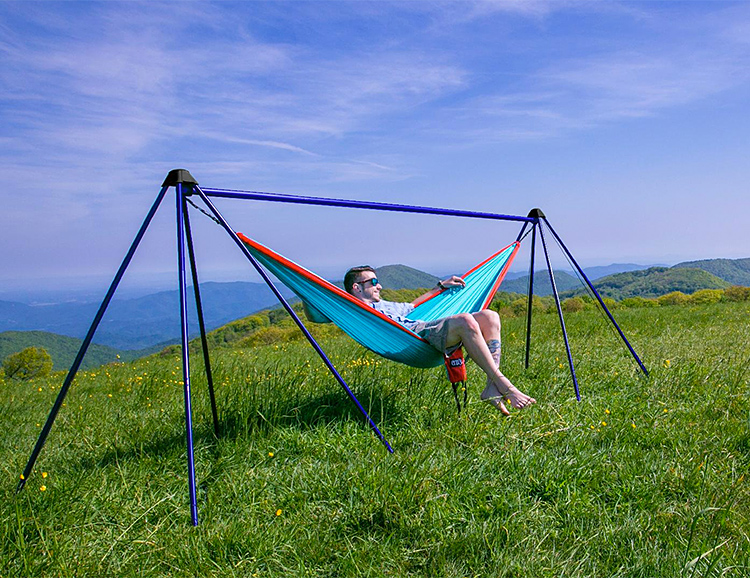 ENO's Nomad Hammock Stand Lets You Hang Anywhere You Want at werd.com