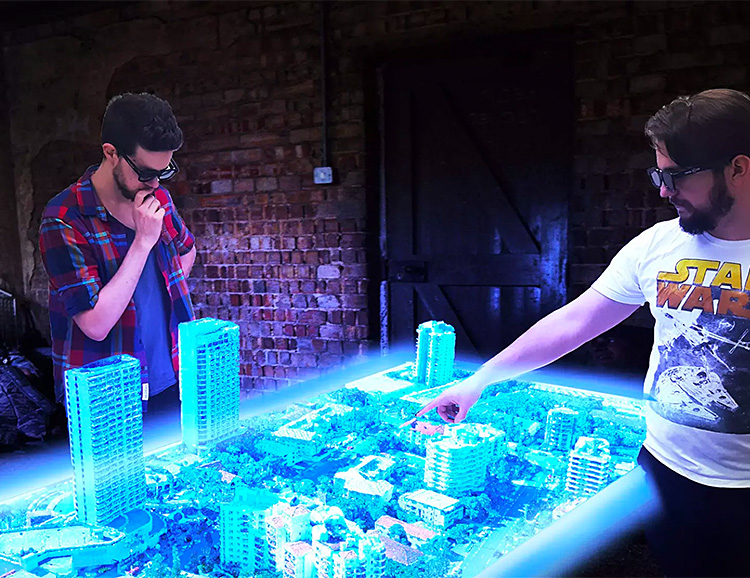 Euclideon Unveils World's First Interactive Hologram Table at werd.com