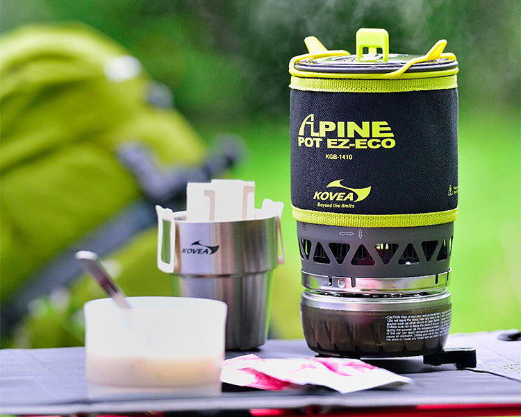 With the Kovea Refillable EZ Eco Stove, You Can Leave the Fuel Canister Behind at werd.com