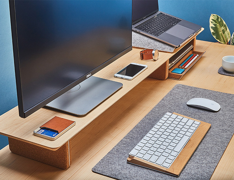The Grovemade Desk Shelf System Gets Your Workstation In Order at werd.com