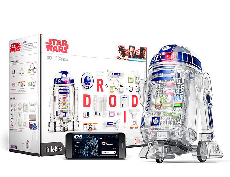 Build Your Own R2D2 with the Star Wars Droid Inventor Kit at werd.com