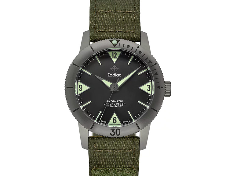 Zodiac Brings Back The Titanium Super Sea Wolf 53 Automatic at werd.com