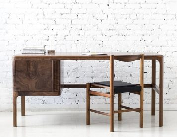 Poritz & Studio's Tambour Desk is a Modern Classic
