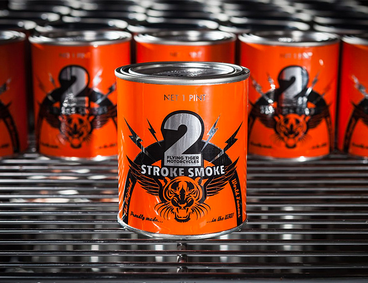 'Tis the Season for a 2-Stroke Smoke Candle at werd.com