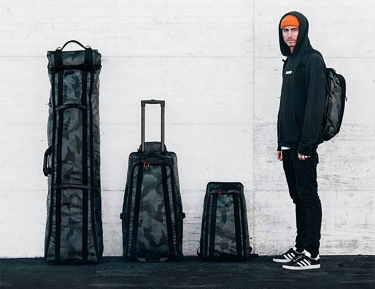 Douchebags' Black Camo Collection Will Step Up Your Winter Travel Game at werd.com