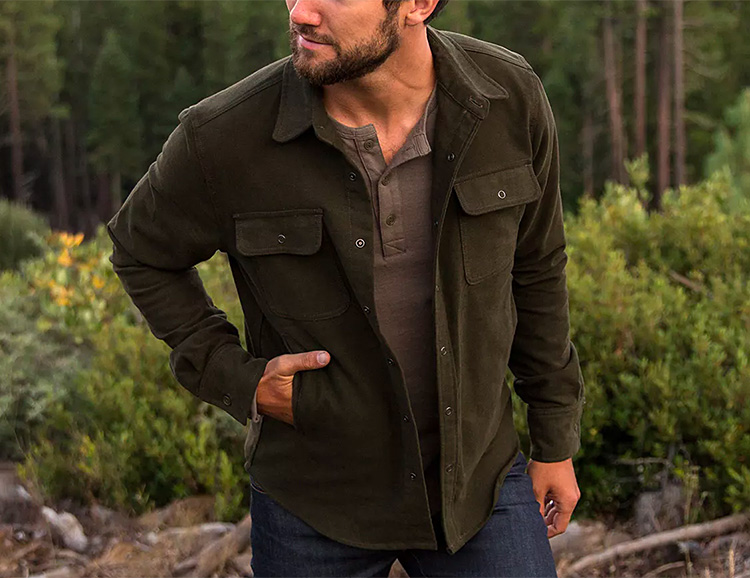 The Moleskin Shirt from Flint & Tinder is a Perfect Fall Layer at werd.com