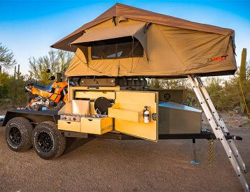 The Turtlebacker Flatbed Camper is an Adventure-Ready Toy Hauler
