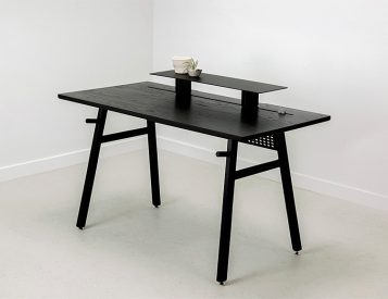 Black, Minimalist, Modular, Check Out This Desk from Artifox