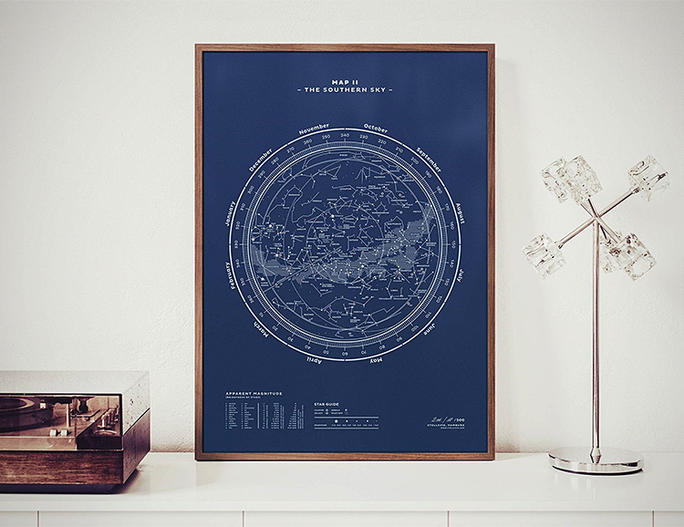 These Constellation Map Prints Will Have You Seeing Stars at werd.com