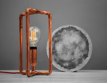 Zapalgo Lamps Merge Industrial Copper & Modern Design