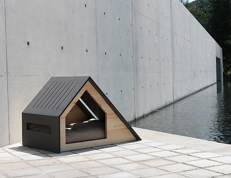 The Deauville House is a Modern Domicile for Your Dog at werd.com