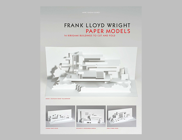 Frank Lloyd Wright Paper Models: 14 Kirigami Buildings to Cut and Fold at werd.com