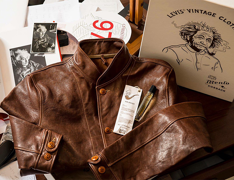 Levi's Brings Back Albert Einstein's Iconic Leather Jacket at werd.com