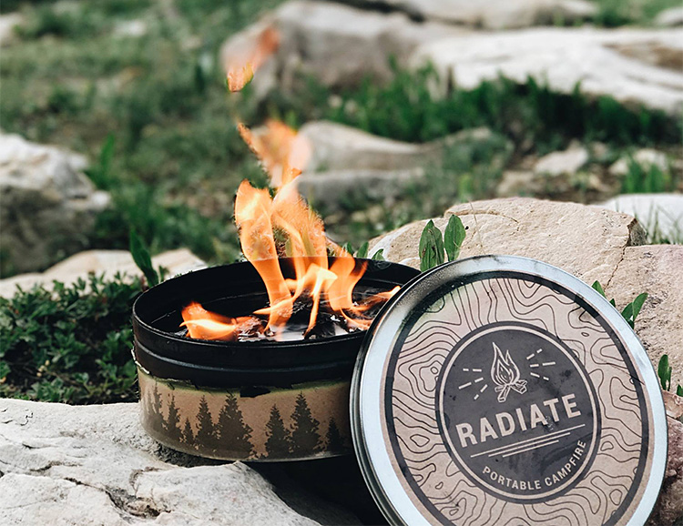 The Radiate Portable Campfire Adds Effortless Ambiance at werd.com