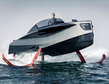 Soar The Seven Seas in a Foiler Flying Yacht