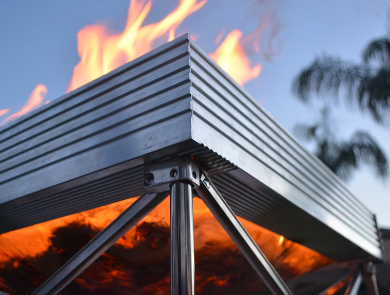 Blaze Up with the Pop-Up Fire Pit at werd.com