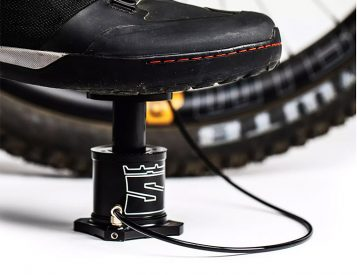 Stompump is a Compact Bike-Mounted Foot Pump