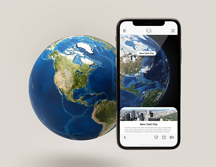 EARTH Uses AR To Teach You About Our Planet at werd.com