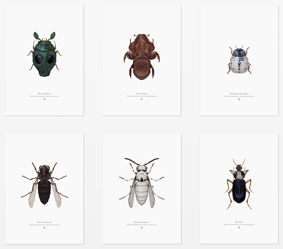 Look Closely At These <i>Star Wars</i> Insect Prints at werd.com