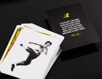 These Bruce Lee Playing Cards Kick Ass