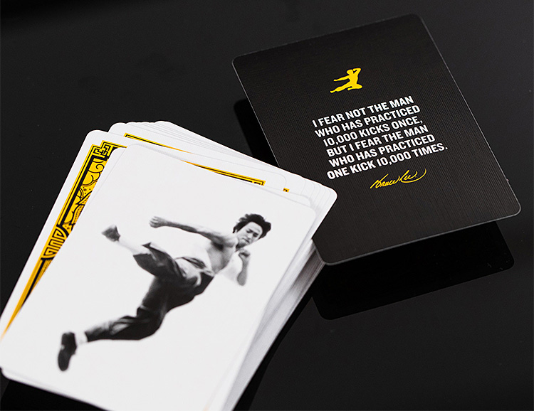 These Bruce Lee Playing Cards Kick Ass at werd.com
