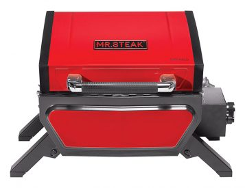 The 1-Burner Infrared Portable Grill from Mr. Steak is Red Hot
