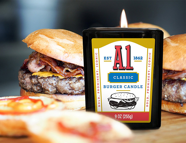 Smells Like Summer: A1 Meat Scented Candles at werd.com