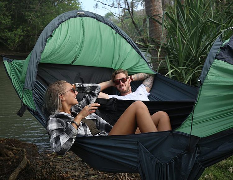 This Camping Hammock Sleeps Two, If You Can Hang at werd.com
